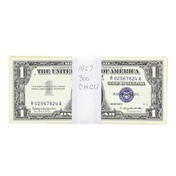 Lot of (300) Choice Uncirculated 1957 $1 Silver Certificate Notes