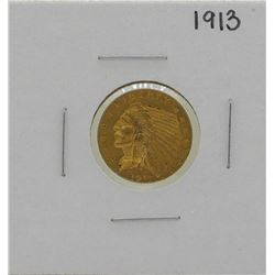 1913 $2 1/2 Indian Head Quarter Eagle Gold Coin