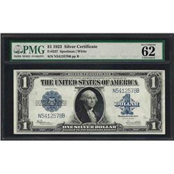1923 $1 Silver Certificate Note Fr.237 PMG Uncirculated 62
