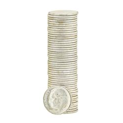 Roll of (50) 1955-D Brilliant Uncirculated Roosevelt Dimes