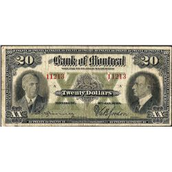 1938 $20 Bank of Montreal Canada Note