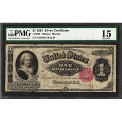 1891 $1 Martha Washington Silver Certificate Note Fr.223 PMG Choice Fine 15