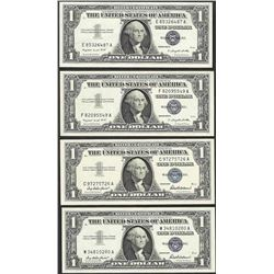 Lot of (4) 1957/1957A $1 Silver Certificate Notes