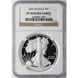 2010-W $1 American Silver Eagle Proof Coin NGC PF70 Ultra Cameo