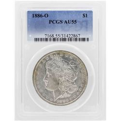 1886-O $1 Morgan Silver Dollar Coin PCGS AU55
