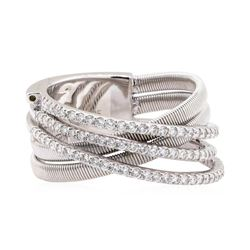 14KT White Gold 0.57 ctw Diamond Band