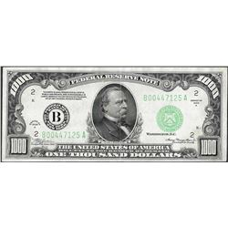 1934A $1,000 Federal Reserve Note New York