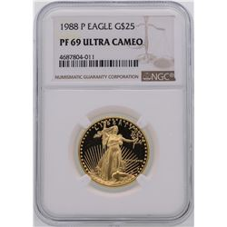 1988-P $25 American Gold Eagle Coin NGC PF69 Ultra Cameo