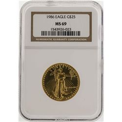 1986 $25 American Gold Eagle Coin NGC MS69
