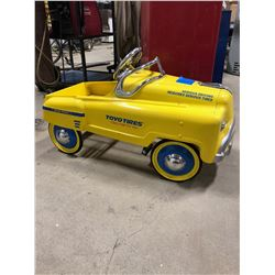 Kids Toyo Tires Pedal Car yellow in colour