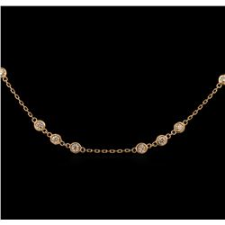 1.99 ctw Diamond Necklace - 14KT Rose Gold