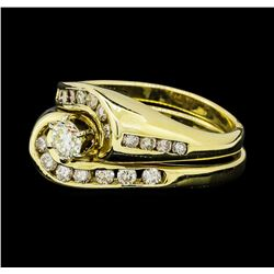 1.10 ctw Diamond Ring and Band - 14KT Yellow Gold