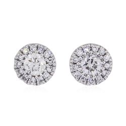 0.25 ctw Diamond Earrings - 14KT White Gold