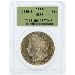 1880-S $1 Morgan Silver Dollar Coin PCGS MS66