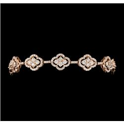 5.00 ctw Diamond Bracelet - 14KT Rose Gold