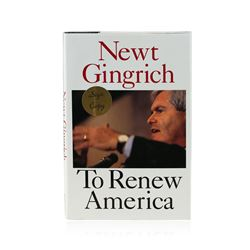 Signed Copy of To Renew America by Newt Gingrich