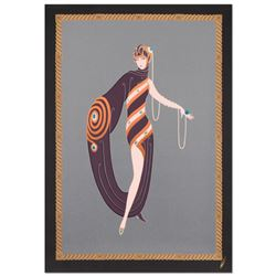 Pearls and Emeralds by Erte (1892-1990)