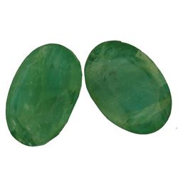 7.22 ctw Oval Mixed Emeralds Parcel