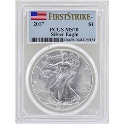 2017 $1 American Silver Eagle Coin PCGS MS70 First Strike