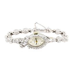1.06 ctw Diamond Longines Lady's Wrist Watch