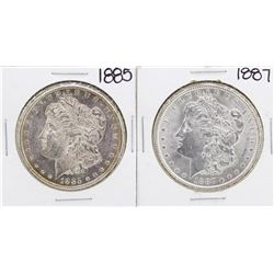 Lot of 1885 & 1887 $1 Morgan Silver Dollar Coins