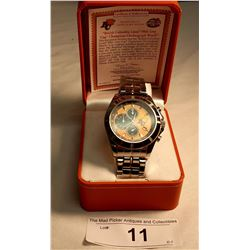 Limited Edition Bradford Exchange, B.C. Lions 99th Grey Cup Champions Chronograph Watch