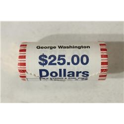 $25 ROLL OF 2007 GEORGE WASHINGTON PRESIDENTIAL $S