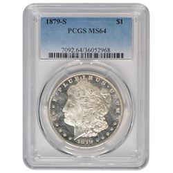 1879-S $1 Morgan Silver Dollar Coin PCGS MS64