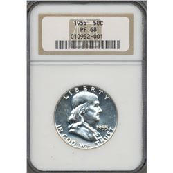 1955 Franklin Half Dollar Coin NGC PF68