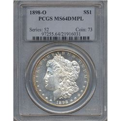 1898-O $1 Morgan Silver Dollar Coin PCGS MS64DMPL