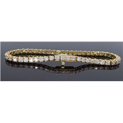 14KT Yellow Gold 3.50ctw Diamond Tennis Bracelet