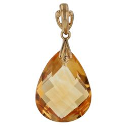 18KT Yellow Gold 9.00ct Citrine Pendant