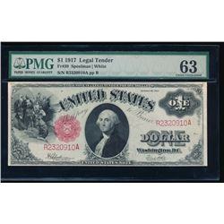 1917 $1 Legal Tender Note PMG 63