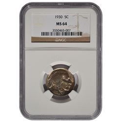 1930 Buffalo Nickel NGC MS64