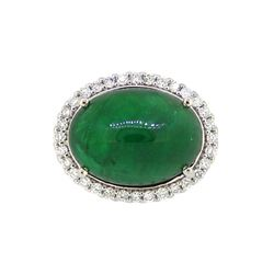 18KT White Gold 13.03ct GIA Cert Emerald and Diamond Ring