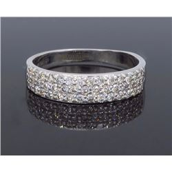 14KT White Gold 0.65ctw Diamond Ring
