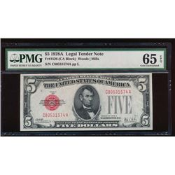 1928A $5 Legal Tender Note PMG 65EPQ