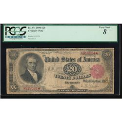 1890 $20 Treasury Note PCGS 8