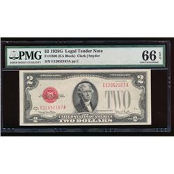 1928G $2 Legal Tender Note PMG 66EPQ