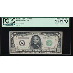 1934A $1000 Chicago Federal Reserve Note PCGS 58PPQ