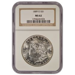 1889-O $1 Morgan Silver Dollar Coin NGC MS62