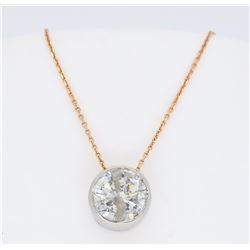 14KT Rose Gold 1.12ct Diamond Pendant with Chain