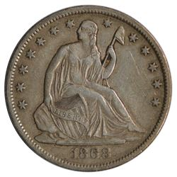 1868-S Seated Liberty Half Dollar Coin