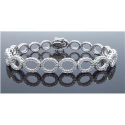18KT White Gold 4.07ctw Diamond Bracelet