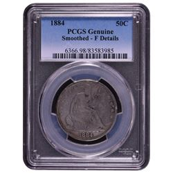 1884 Seated Liberty Half Dollar Coin PCGS Genuine
