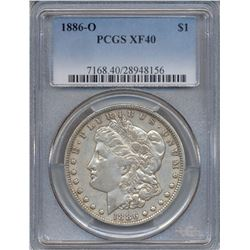 1886-O $1 Morgan Silver Dollar Coin PCGS XF40