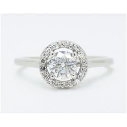 14KT White Gold 0.50ct EGL Cert Diamond Ring