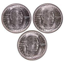 1949-P-D-S Booker T Washington Half Dollars
