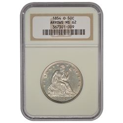 1854-O Seated Liberty Half Dollar Coin NGC MS62