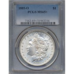 1885-O $1 Morgan Silver Dollar Coin PCGS MS65+